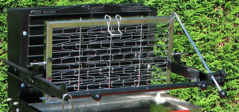 Barbecue charbon raymond a grille verticale