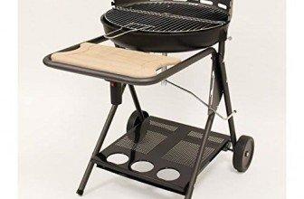 Le barbecue au charbon avec ventilateur